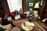 Prince Charles takes tea with Geoff and Anne and Hannah Ellis - Dylan's granddaughter