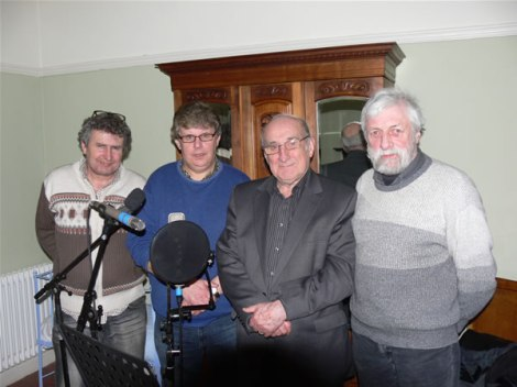Recording the CD insert of A Map of Love at 5 Cwmdonkin Drive